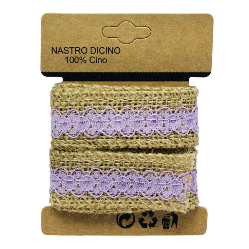 Craft Jute Ribbon with Cloth Lace