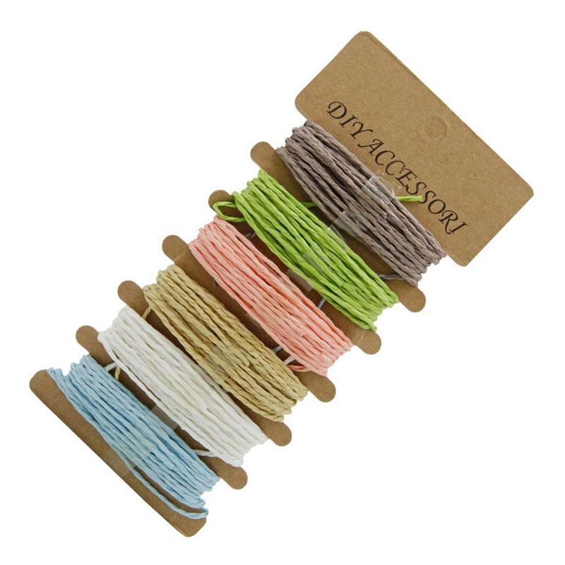 Craft Paper Rope Ribbon (Set of 6)