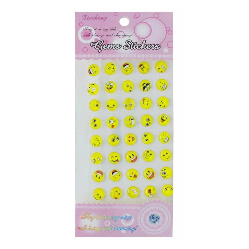 Gems Sticker (Smiley Face)