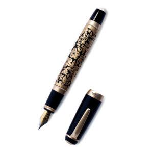 V'Sign Proton Flora Fountain Pen (Gold)
