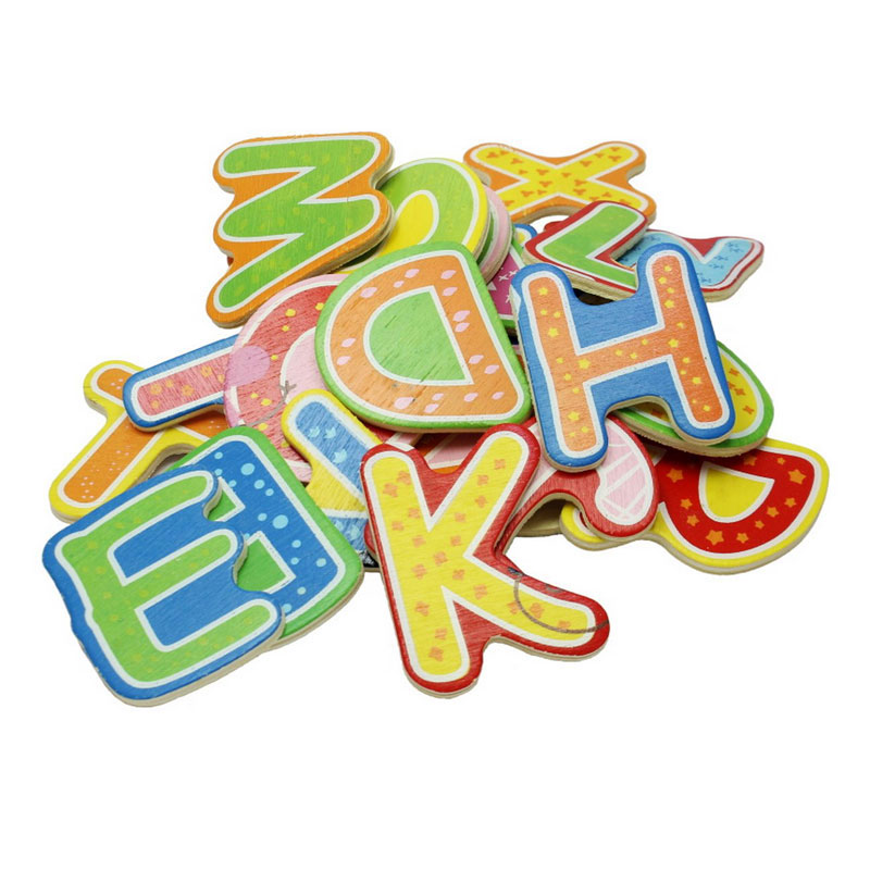 Wooden Alphabet A to Z Cut Out Sticker (Pack of 26)