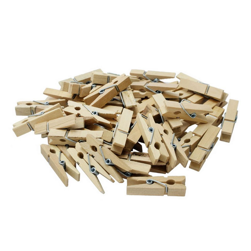 Wooden Clips (Off White) Mini Pack